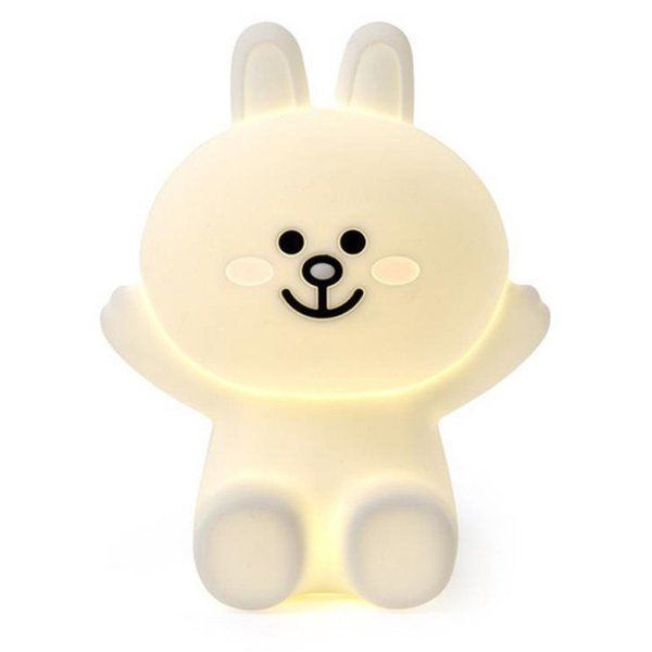 Creative brown bear bunny night lights canie rabbit silicone Night Lights USB bedroom lamps Free Shipping