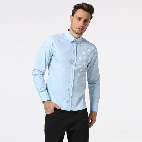 2018 New Mens spring Shirt Male Casual camisa masculina Printed Beach Shirts Long sleeves brand clothing Asian Size 2XL