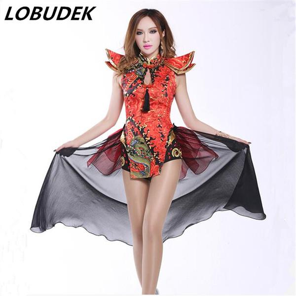 b7cb2e000b7 2016 new sexy bodysuit Ds costume vintage Chinese style sexy dj female  singer performance wear twirled