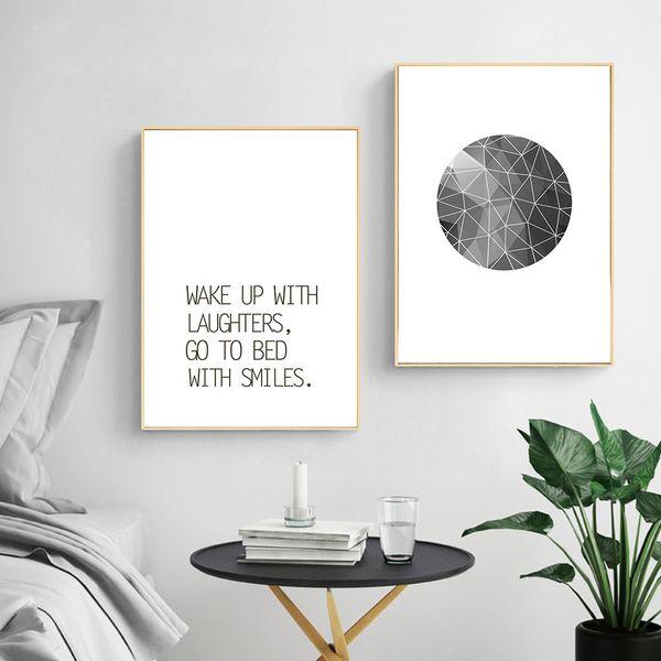 Großhandel Abstrakte Wand Kunst Leinwand Malerei Inspirierend Zitat Nursery  Poster Und Drucke Schwarz Weiß Wandbilder Kinderzimmer Dekoration Von ...