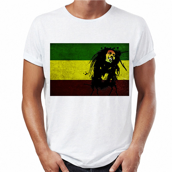 2018 Nuevas llegadas Camiseta de campanero de Bob Marley Legend Hombre Jamaica Daft Punk camiseta blanca Diseñador de camisetas para hombre Graphic Street Top