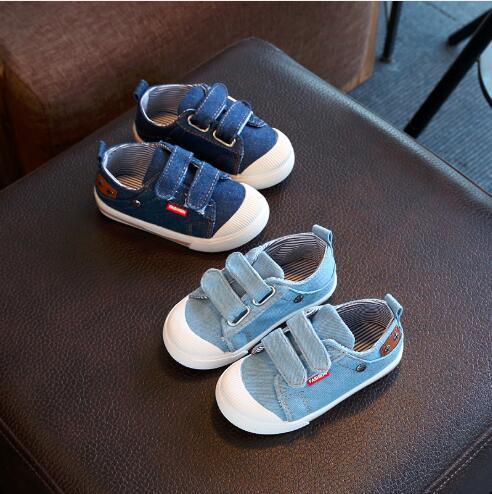 Baby, Kids & MaternityAthletic & OutdoorExplosion models men and women children's denim canvas wear-resistant solid color Korean casual shoe