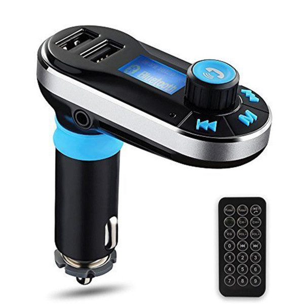 Wireless Multifunctional Bluetooth Handsfree Car Kit/ Adapter FM Transmitter Calling MP3 Player Dual USB Ports for Phone charge