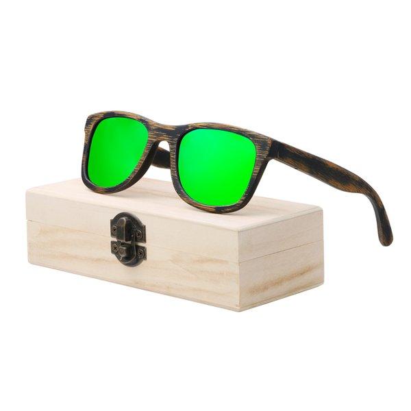 lente verde con estuche
