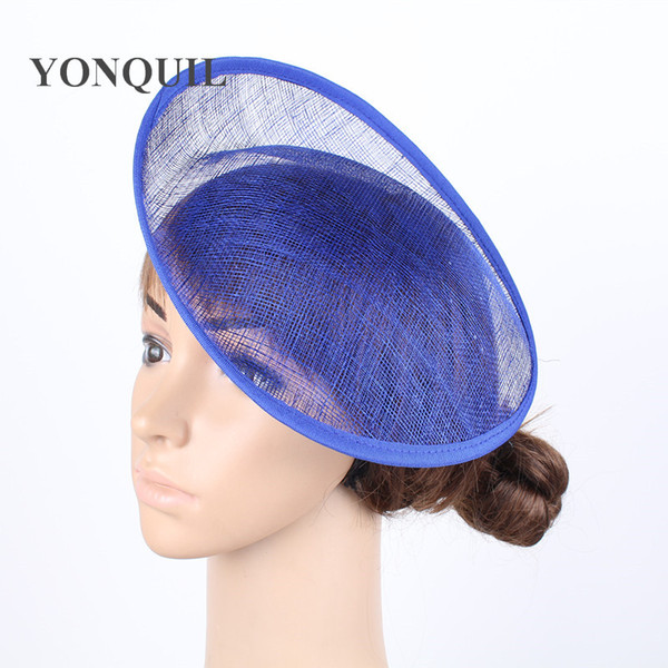 "Royal blue 10""/25CM Sinamay Fascinators Bases Millinery Fascinator Hat Base Craft Making Material derby party headwear 12pcs/lot"