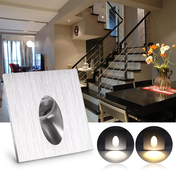 1 W Parede Quadrada LED Recesso Pórtico Acesso Passo Escadas Lâmpada de Parede Porão Iluminação AC 100-245 V Robusto E À Prova de Choque