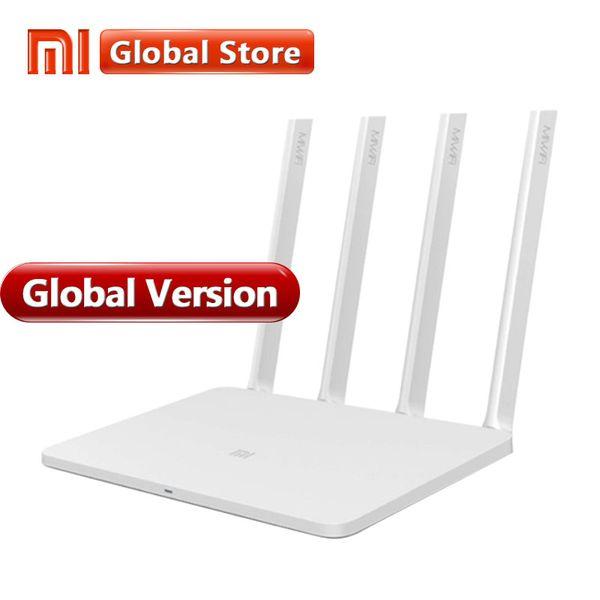 Küresel Sürüm Xiaomi Mi WIFI Router 3 4 Antenler WiFi 1167 Mbps 802.11ac b / g / n Dual Band 2.4G / 5G APP Destekler