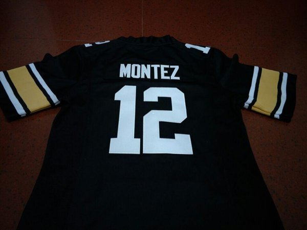 Erkekler # 12 Steven Montez Colorado Buffalo Siyah Mezunlar Koleji Forması S-4XLor özel herhangi bir isim veya numara jersey