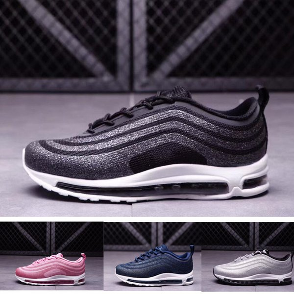 how to buy new arrive timeless design Compre Nike Air Max 97 Glitter 97 LX Niños Runing Shoes Chicos Corredor  Silver Pink Blue Black Niños Al Aire Libre Niño Niño Niñas Atléticas ...