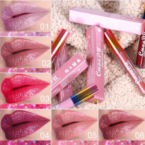 Cmaadu Matte To Glitter - Barra de labios líquida, camaleón, metal dorado, brillo de labios mate, larga duración, impermeables, color de perla, labios, tinte, labios, maquillaje