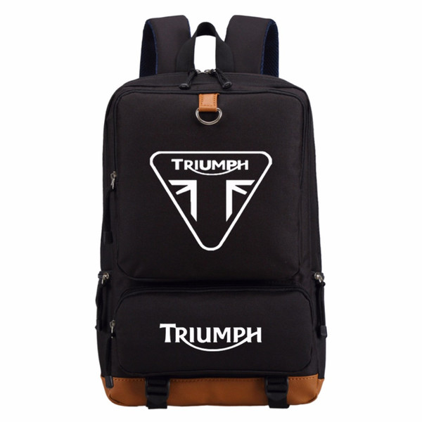 WISHOT triumph motorcycle backpack Men women's boy Student School Bags travel Shoulder Bag Laptop Bags bookbag casual bag