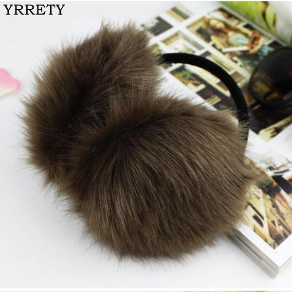 YRRETY 2018 Winter Fashion Women Warm Fur orejeras Diseño de alta calidad Ear Warmers Rex Fur Ear Muffs Girl's Winter Headphones