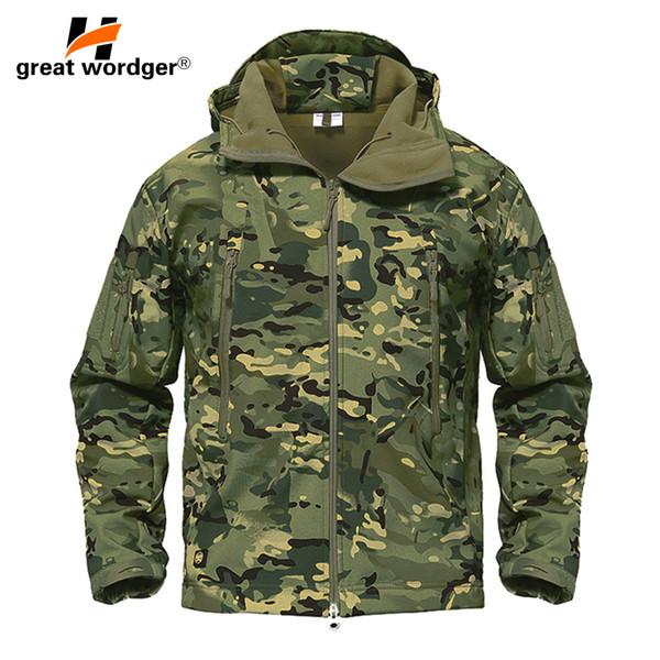 Homme Imperméable Coupe-vent et respirant Camouflage VesteManteau