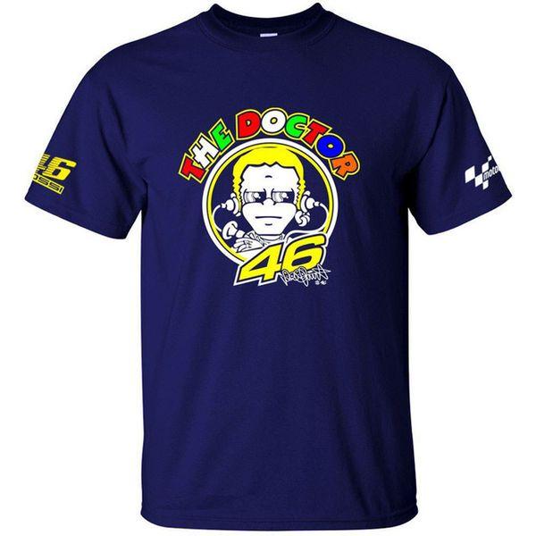 Envío gratis caliente de la venta al por mayor camiseta Moto GP 46 El doctor Signature motocicleta Racing Sports DX camiseta de gran tamaño XS a 6XL