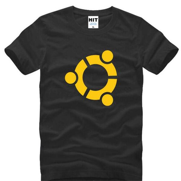 Теория Большого Взрыва Шелдон Ubuntu печатных футболки мужчины летний стиль с коротким рукавом О-образным вырезом хлопок мужская футболка мужской футболки