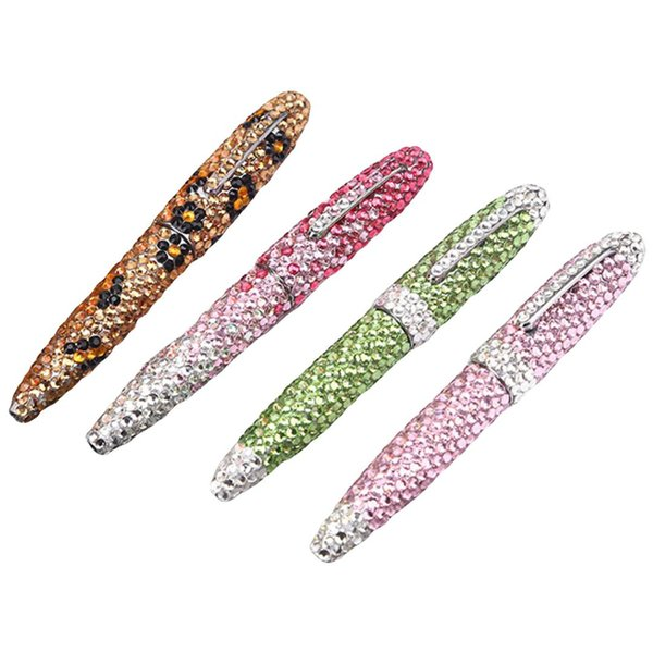 1pcs Creative Diamond Upscale Business Gift Ballpoint Pen Fashion Office School Stationery Writing Pen Christmas Gift