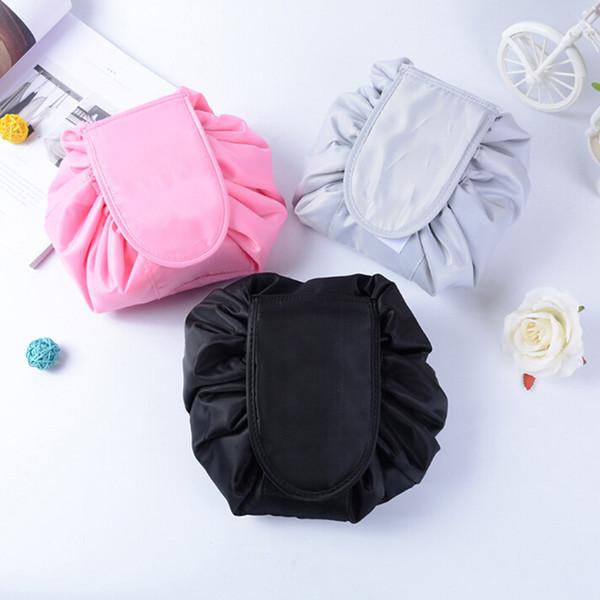 Lazy Cosmetic Bag Large Capacity Portable Drawstring Makeup Storage Artifact Magic Travel Pouch Make Up Beauty WKit
