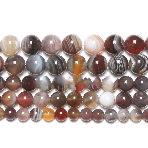 "8mm Natural Stone Botswana Sardonyx Agates Round Loose Beads 6 8 10 12MM 15"" Strand Pick Size For Jewelry DIY"