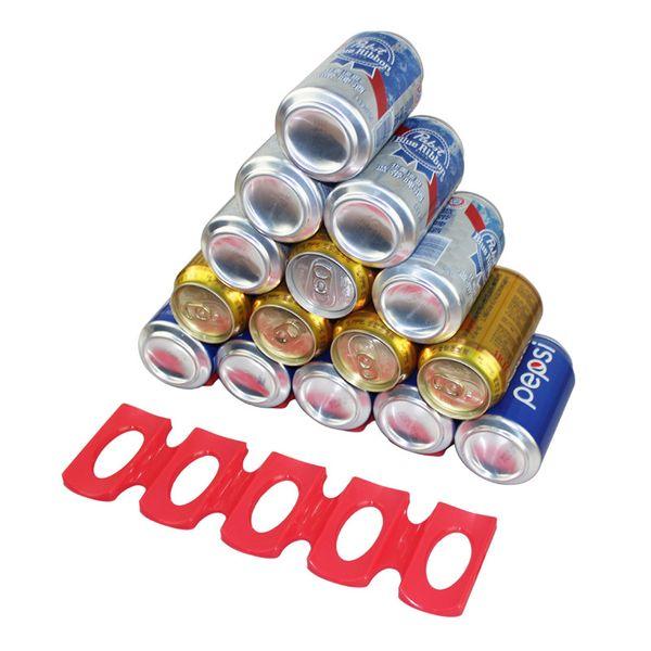 Frigo Can Beer Wine Bottle Rack Organizer silicone può titolare stuoia Holder Mat impilabile Tidy Kitchen Tool
