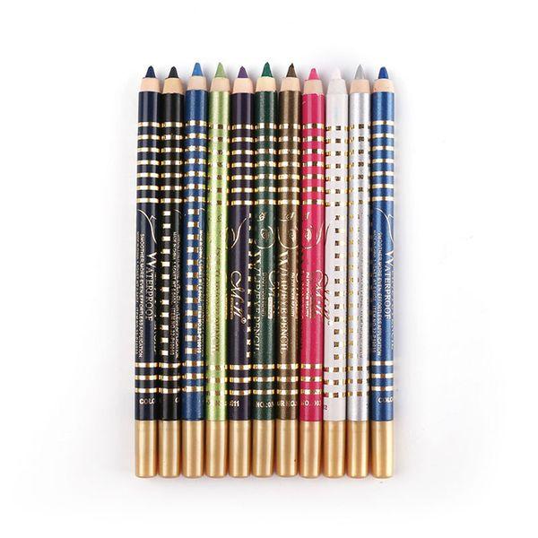 Wholesale-12 Colors Waterproof Eyeshadow Make Up Cosmetic Maquiagem Professional Tool For Eye Long Lasting Beaut Lapis De Olho Eye Pencil