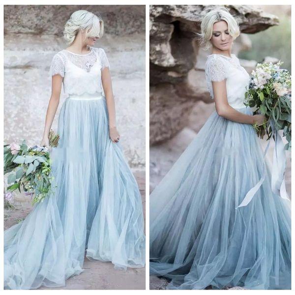 Discount 2018 Scoop Lace Top Jacket Wedding Dresses Short Sleeve ...