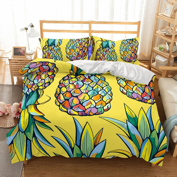 Großhandel Cute Cartoon Ananasblumen Muster Home Living Kind ...
