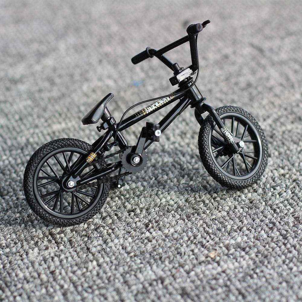 1:50 Black Finger Bike Toy Flick Trix Mini bmx bikes bicycle model toys for children boys mountain bike gift Novelty game fsb