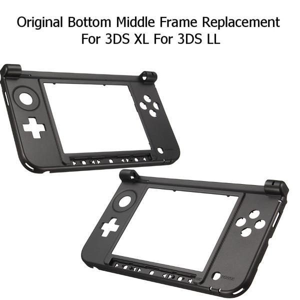 Нижняя крышка корпуса оболочки случае средняя рамка замена комплекты консоли Крышка для 3DS XL LL DHL FEDEX EMS бесплатная доставка