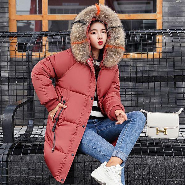 2019 ALABIFU Casual Autumn Winter Jacket Coat 2018 Long Thick Warm Women Parka Female Plus Size Hoodies Fur Collar Coat Outwear 3XL
