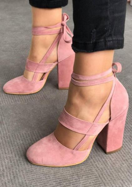 Avrupa ve Amerikan tarzı tasarımcı seksi elbise ayakkabı kadınlar yüksek topuk ayakkabı moda dantel-up akşam parti ayakkabı feiyue2026