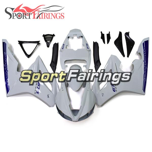 White Blue Fairings For Triumph Daytona 675 2009 - 2012 09 10 11 12 Plastics ABS Injection Fairings Motorcycle Fairing Kit Bodywork Hulls