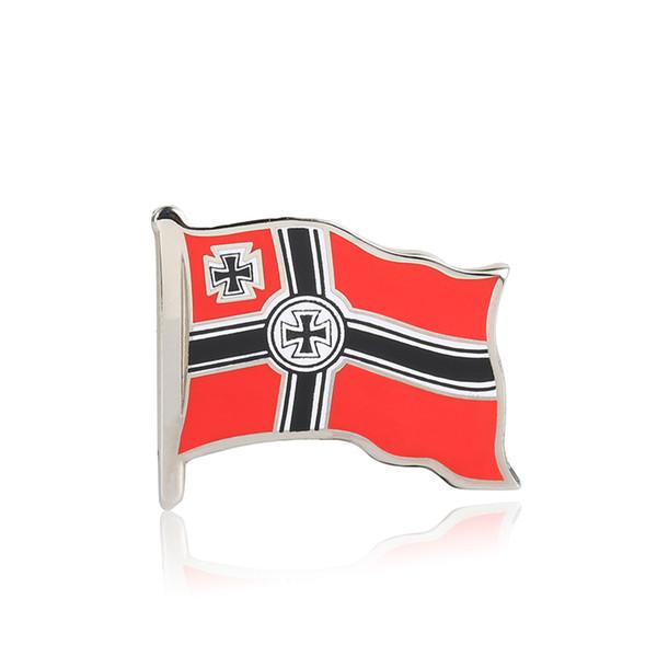 Première Guerre Mondiale, Empire Allemand, drapeau, épinglette, émail, croix, insigne, broches
