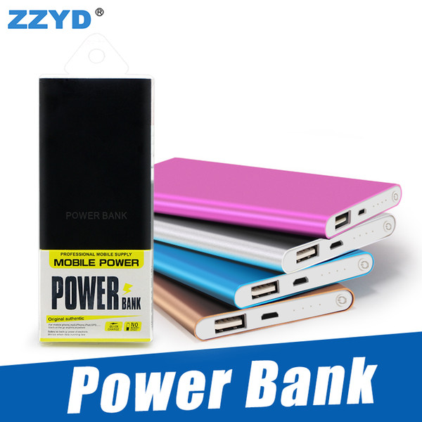 top popular ZZYD Portable Ultra thin slim powerbank 4000mah charger power bank for S8 mobile phone Tablet PC External battery 2019