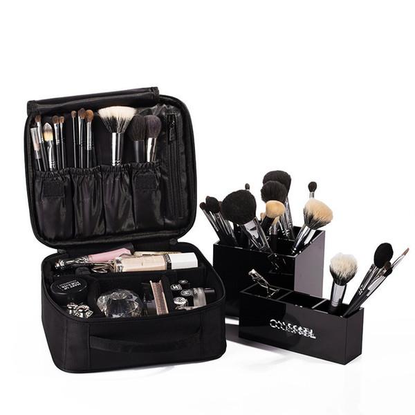 ALYMLH Brand Women Cosmetic Bag High Quality Travel Cosmetic Organizer Zipper Portable Makeup Bag Designers Trunk Bags