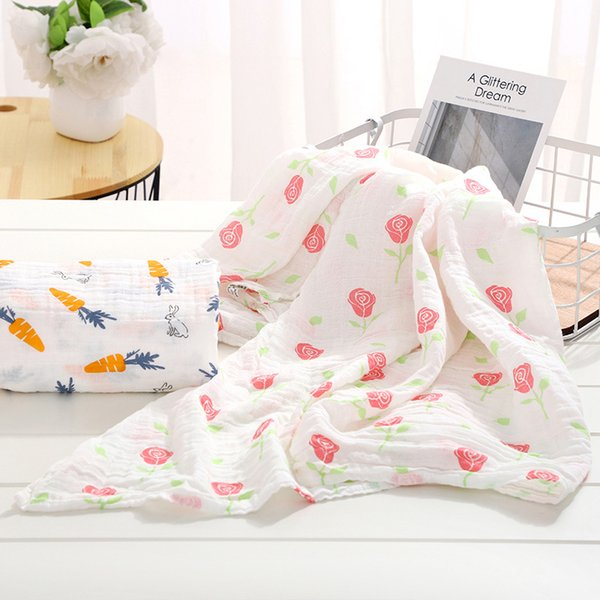 hot sales baby blanket cotton baby muslin swaddle blanket quality Multi-use cotton Infant Wrap diaper