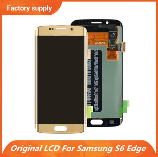 Best Original Display LCD Digitizer Panels Touch Screen Assembly for Samsung Galaxy S6 Edge G925 G925A G925V G925T