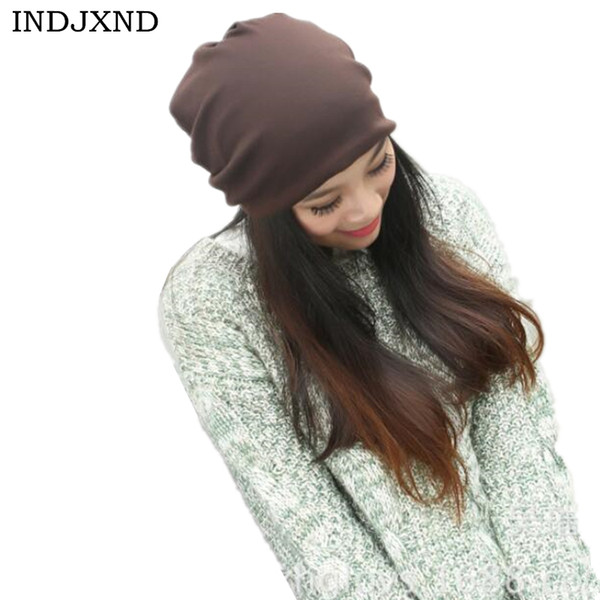 Winter multifunctional beanies autumn woman gorros pure color performance women beanie hat high quality female skullies M028 Y18102210