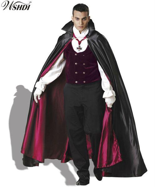 Großhandel Deluxe Erwachsene Männer Dracula Vampir Kostüm Halloween Karneval Maskerade Party Kostüm Erwachsene Mann Vampir Set Von Priscille, $105.28