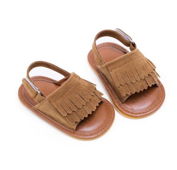 2018 New designed nubuck leather summer baby moccasins Tassels kids baby shoes kids sandals first walker shoes boys girls shoes