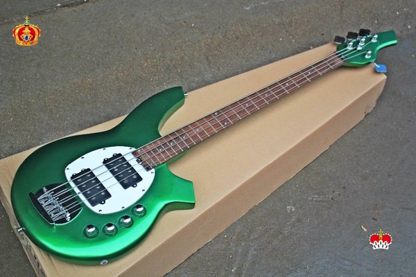 Top quality low price GYMB-7015 Dark green color beautiful M Bass Guitar, Active pickup , Can be Customized, Free shipping