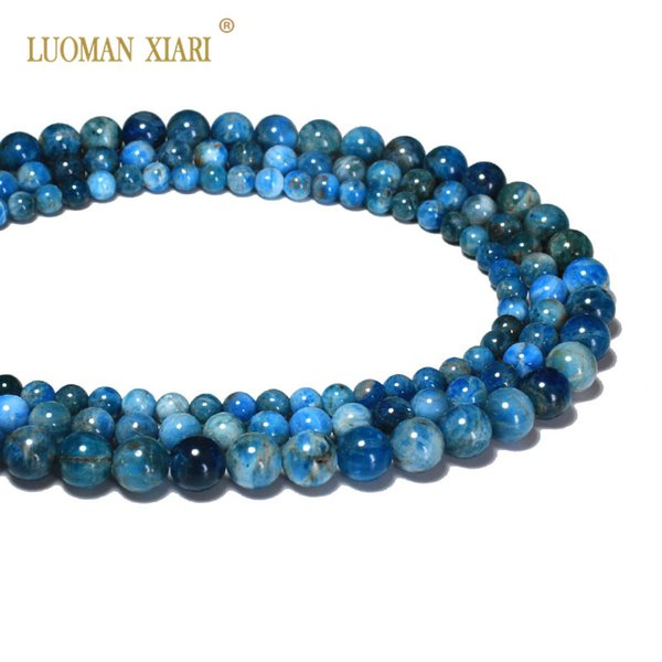 AAA+ 100% Natural Top grade Apatite Semi-precious Stone beads For Jewelry Making DIY Bracelet Necklace 6/8/10/mm Strand 15.5''