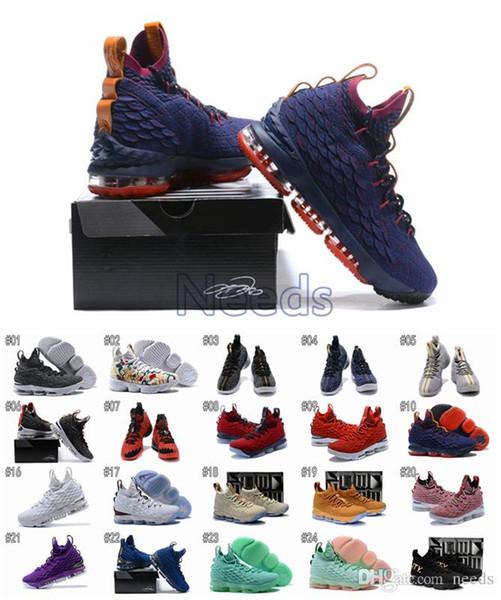 2018 VENTE CHAUDE Nouveau XV 15 BHM Cendres Florales Fantômes Basketball Hommes Hommes luxe Running Designer Marque Chaussures Formateurs Baskets Livraison Gratuite