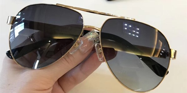Luxury 1126 Sunglasses Men Designer Popular Fashion Half Frame Summer Style Top Quality UV Protection Lens Come With Case