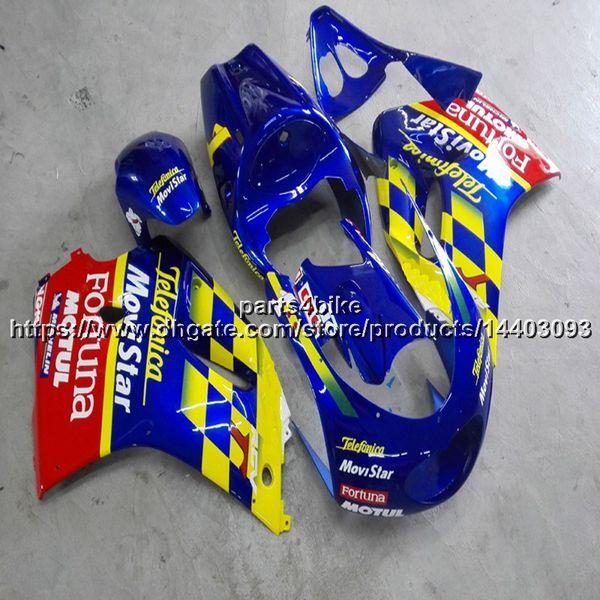 23 colori + 5 Ruote + ABS giallo blu Carenatura per Suzuki 1997-1998 RGV250 VJ23 97 98 RGV 250 VJ23 articolo di motocicletta