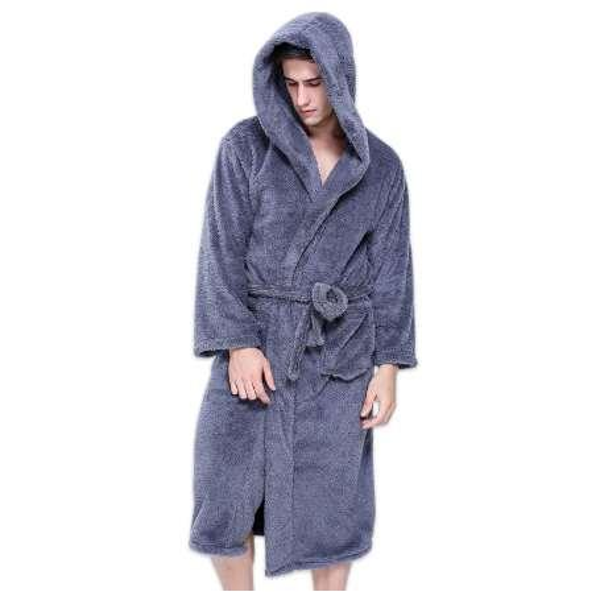 Plus size XXL accappatoi con cappuccio per uomo inverno Tenere caldo a maniche lunghe squisita peluche mens vestaglia coppie accappatoi