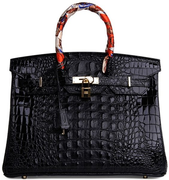 Crocodile tote houlder bag 3d embo o trich whole ale women handbag tote lady pur e it de francetogo genuine leather bag pari u eur
