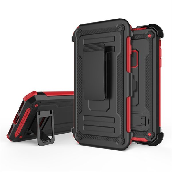 For Iphone x cell phone accessories cases car holder mobile case shockproof hybrid tpu+pc with belt clip phone case