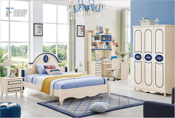 2019 Ash Solid Wood Children Bedroom Furniture Set Modern Fashion Children  Bed Wardrobe Desk Bedside Table From Wlnsfurniture, $1044.23 | DHgate.Com