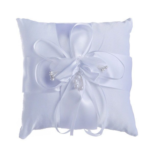 Wedding Ring Pillows Ivory wedding supplies Flower girl children basket Cheap Lace bridal and groom rings pillow