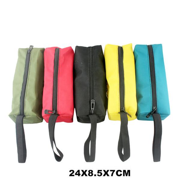Bolsa de herramientas de almacenamiento bolsa de utilidad Oxford lona impermeable multifuncional para pequeñas piezas de metal con asas de transporte